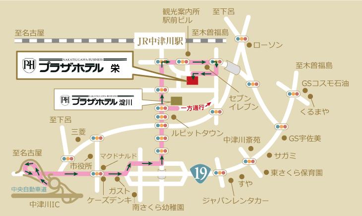 プラザホテル周辺地図
